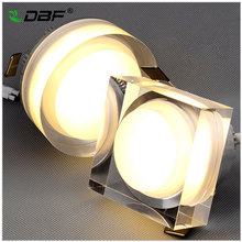 LED Crystal Downlight Square/Round 1W 3W 5W 7W LED Ceiling spot light led recessed lamp for home decoration kitchen Lighting цена