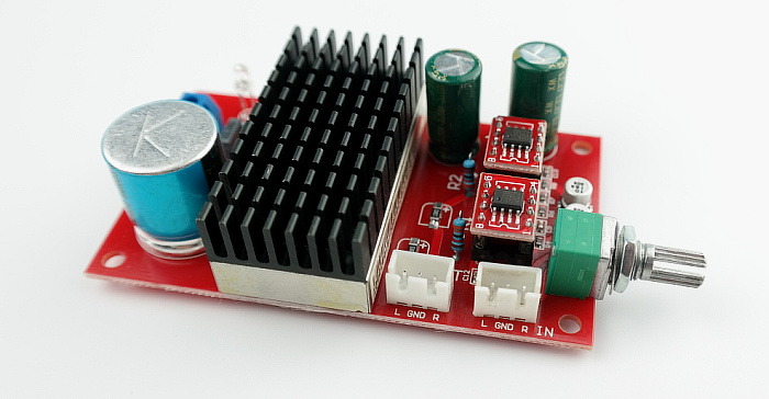<font><b>OPA2134</b></font> vehicle mounted power amplifier board using isolated power supply module image