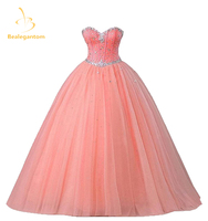 2015 New Pink Quinceanera Dresses Ball Gowns Sweetheart Beading Lace Up Sweet 16 Dresses Vestidos De