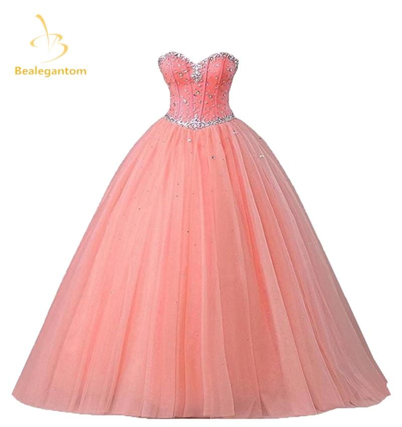 2018 New Pink Quinceanera Robes Robes De Bal Cherie Perles À Lacets - Habillez-vous pour des occasions spéciales - Photo 1
