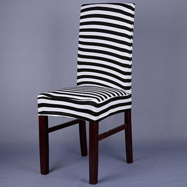 Amazing gallery of wit zwart stoelhoezen spandex zebra for Stoel carla