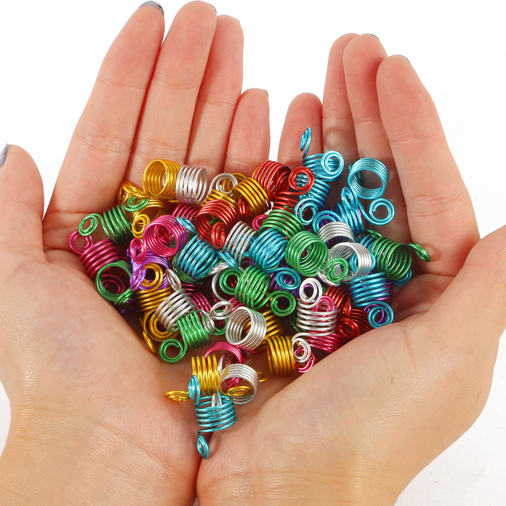 20Pcs/Lot Mix Color 12x24mm Micro Hair Dread Braids Lock Tube Beads Adjustable Cuffs Clips For Hair Accessories Tool
