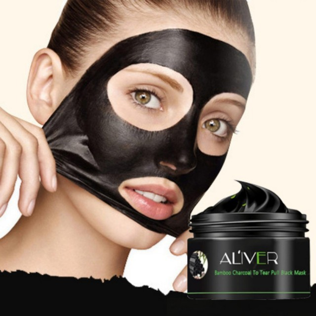 Black Mask Face Clear Bamboo Charcoal Deep Cleansing Blackhead Remover Peel off Soft Skin Face Care