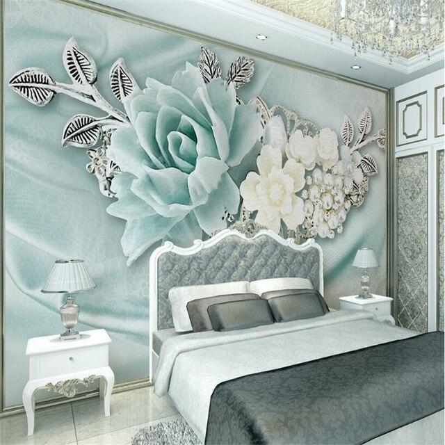 Beibehang 3d papier peint salon chambre murale 3d menthe vert ...