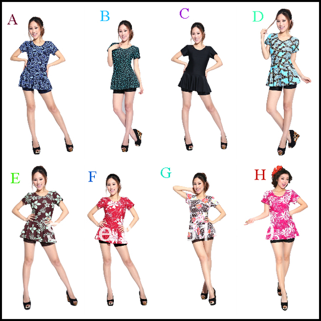 2013 Korea one piece skirt swimwear women sexy gather small chest cover belly hip Slim show thin Spa swimsuit Free Shipping