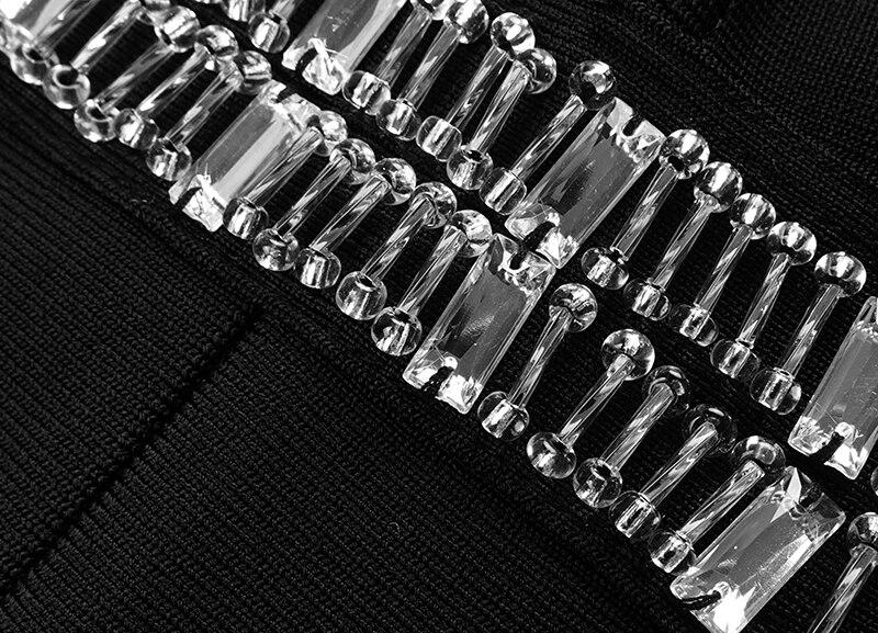 Sexy Trou Cut Celebrity Salopette Dropship Taille Party Perles Gros Mode Wear Noir Bandage Clé 2018 Club Out Design FYnwIq1Uxx