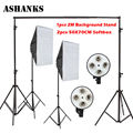 Ashanks fotografía softbox lámpara cuádruple toma de retrato de estudio ropa soporte de fondo luces de equipo