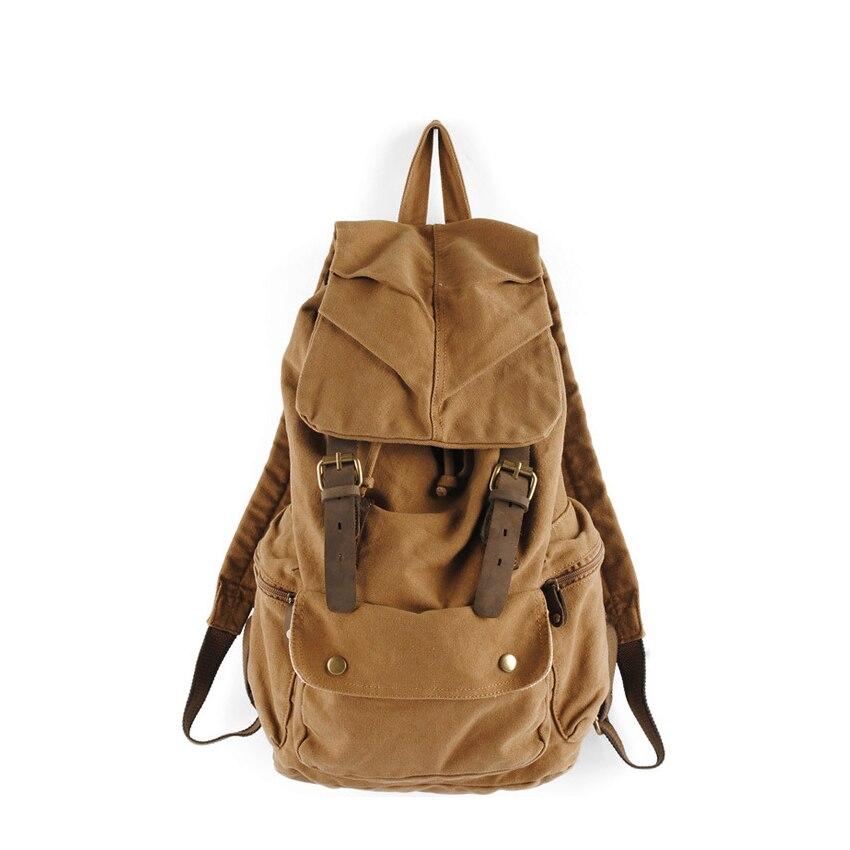 Canvas backpack travel bags laptop vintage multi-function waterproof men bags unisex backpack