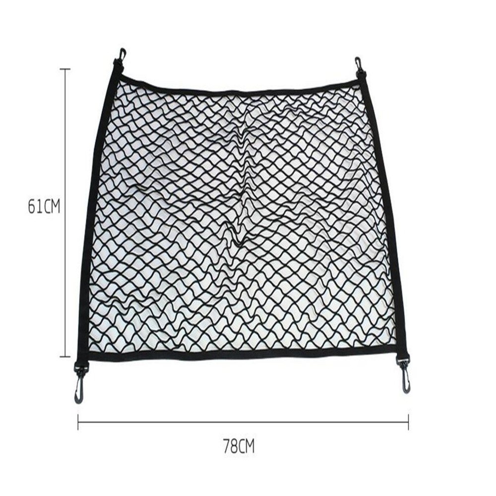 4 Hook Car Universal Trunk Cargo Net Mesh Storage Organizer Auto Accessories For Chevrolet Sport Tourer Any Car