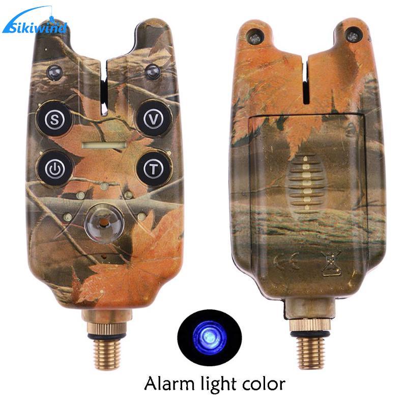 2LED Fishing Rod Bite Alarm LED Light Illuminated Indicator Rod Bite Alarm for Sea Lake Rock Fishing Tackle Tools Accessories