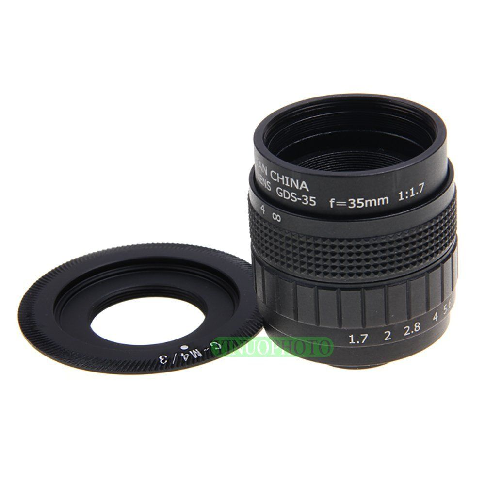 FUJIAN 35mm F1.7 C Mount CCTV F1.7 Lens for Panasonic Lumix DMC-GH3,G5,GF5,GX1,GF3,G3,GH2,GF2,G2,G10,G1,GH1,GF1