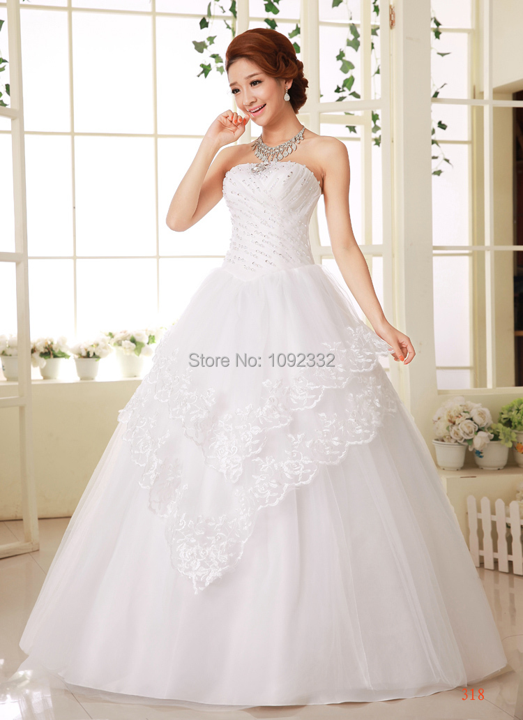 S 2016 new plus size bridal gown wedding dress cheap under for Cheap wedding dress under 50