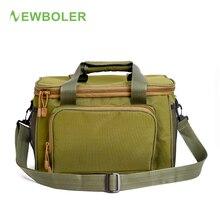 NEWBOLER Bait Fishing Bag Wearable Waterproof Fishing Reel Bag Outdoor Travel Bag 37*25*25cm Fishing Camouflage Shoulder Pack