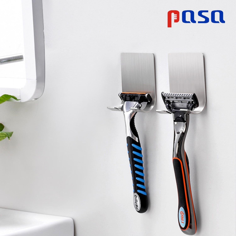 1PC New Wall-mounted Shaver Shelf 304 Stainless Razor Holder Men Shaving Shelf Razor Rack Bathroom Viscose Razor Hook