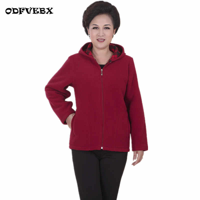 Middle-aged winter women's Sweatshirt coat size5XL camel fleece jacket women plus velvet casual warm sports mother loaded jacket