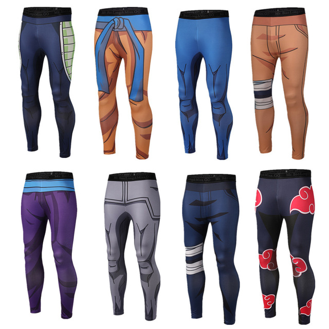 Brand Clothing 2017 New Arrive Mens Pants 3D Print Dragon Ball Z Naruto Skinny Leggings Trousers Fashion Tights Sweatpants M-3XL 1