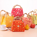 2016 New Fashion Fruit Insulated Canvas lunch Bag Thermal Food Picnic Lunch Bags for Women kids Men Cooler Lunch Box Bag Tote