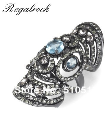 Regalrock Crystal Joint Armor Knuckle Hinged Ring все цены