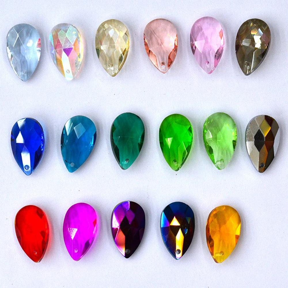 Crystal Beads 38mm Chandelier Prisms Colored K9 Crystal Tear Drop Suncatchers Hanging For Chandelier Party Wedding Decoration