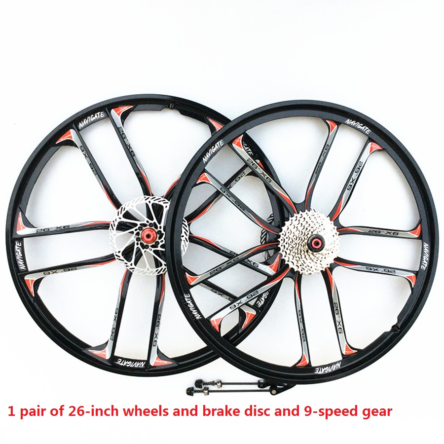 Sales MTB1 for magnesium alloy wheels 26 inch mountain bike wheels for 8,9,10,11 speed suitable for disc brakes 2018 anima 27 5 carbon mountain bike with slx aluminium wheels 33 speed hydraulic disc brake 650b mtb bicycle