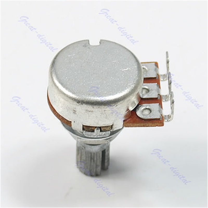 A500K Potentiometer Splined Pot Electric Guitar Bass Effect Amp Tone Volume 15mm Shaft Parts