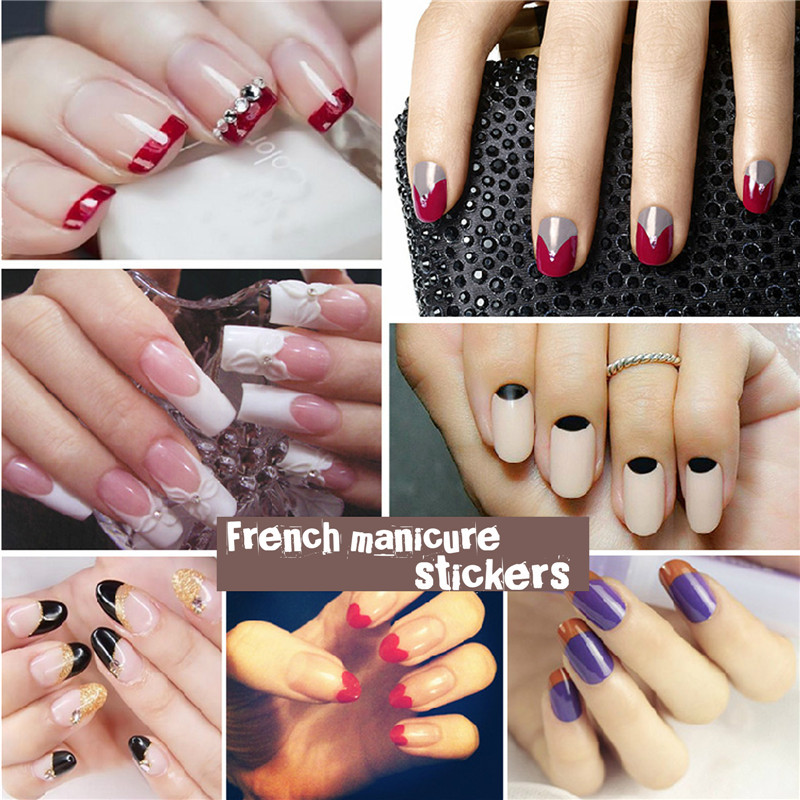 3pcs Lot French Tip Nails Forms Guides Stickers Hot Manicure Nail Art Sticker Diy Tools Decals In From Beauty Health On