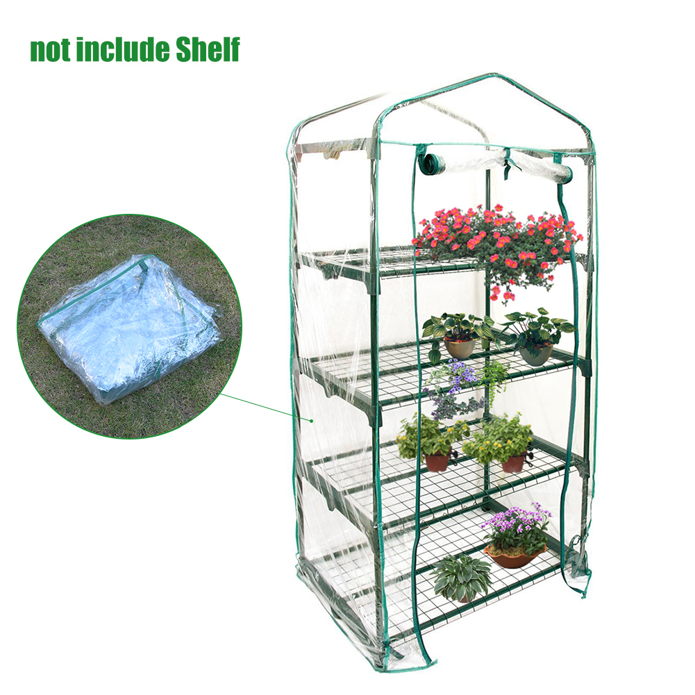 PVC Warm Garden Tier Mini Household Plant Greenhouse Cover (without Iron Stand) ...