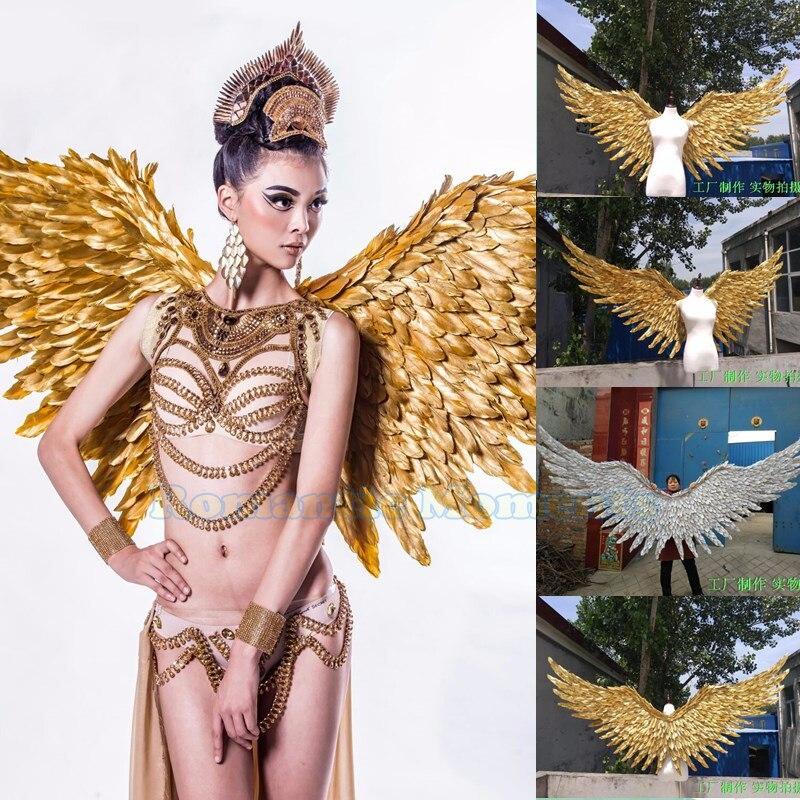 Бесплатная доставка ems, Золотые крылышки с большими крыльями, большие Угловые крылышки для вечеринки, 200 см * 100 см