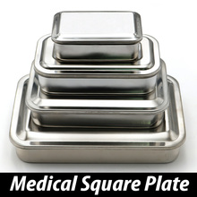 304 thick medical stainless steel disinfection tray square plate with hole cover medical equipment and surgical instruments
