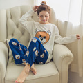 New 2016 Winter and Autumn Underwear Pyjamas Women Pajama Sets Milk Silk Sleepwear Pajamas for women female Girl