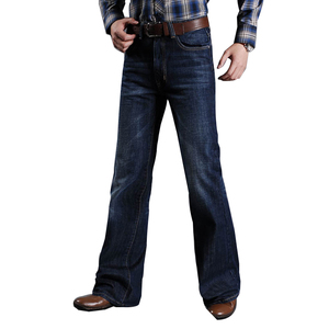 Image 1 - Mens Flared Jeans For Men Boot Cut Leg Fit Jeans Classic Stretch Denim Flare Bootcute Jeans Male Fashion Stretch Pants