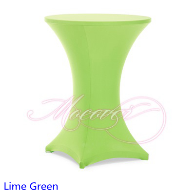 Lime Green Colour Spandex Table Cover Tail Cloth Lycra High Bar Wedding Party And Hotel Decoration In Tablecloths From Home