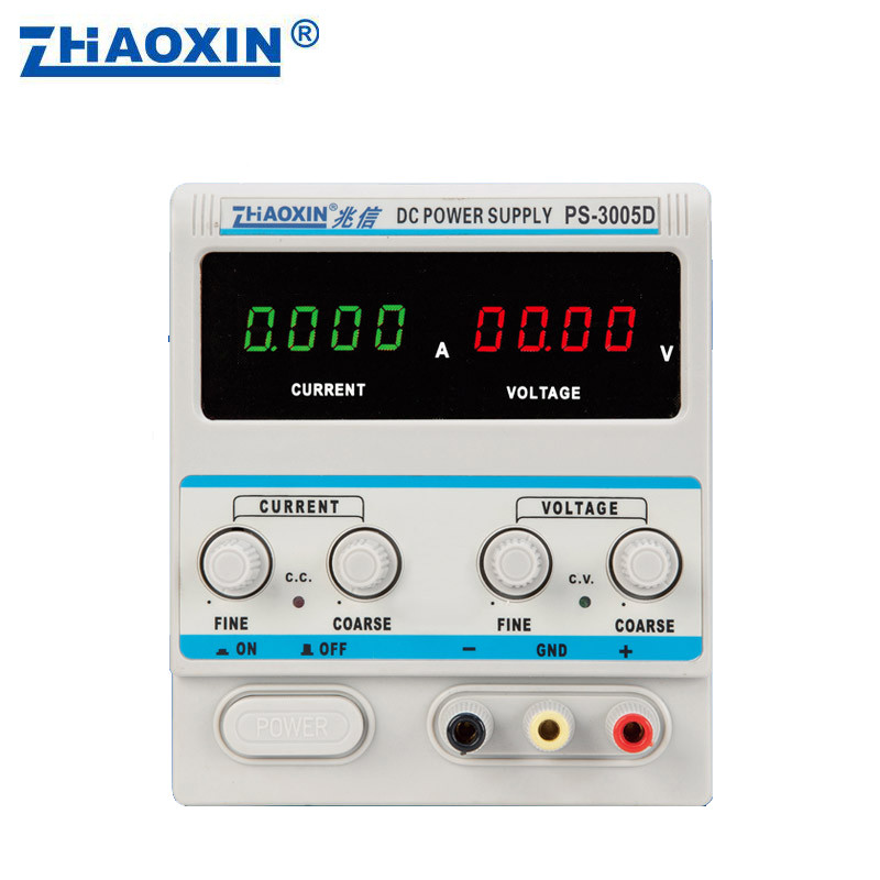 PS-3005D 0-30V, 0-5A Adjustable DC Power Supply Four Digits Display 0.01V 0.001A DC Linear Power Supply four digit display rps3003c 2 adjustable dc power supply 30v 3a linear power supply repair