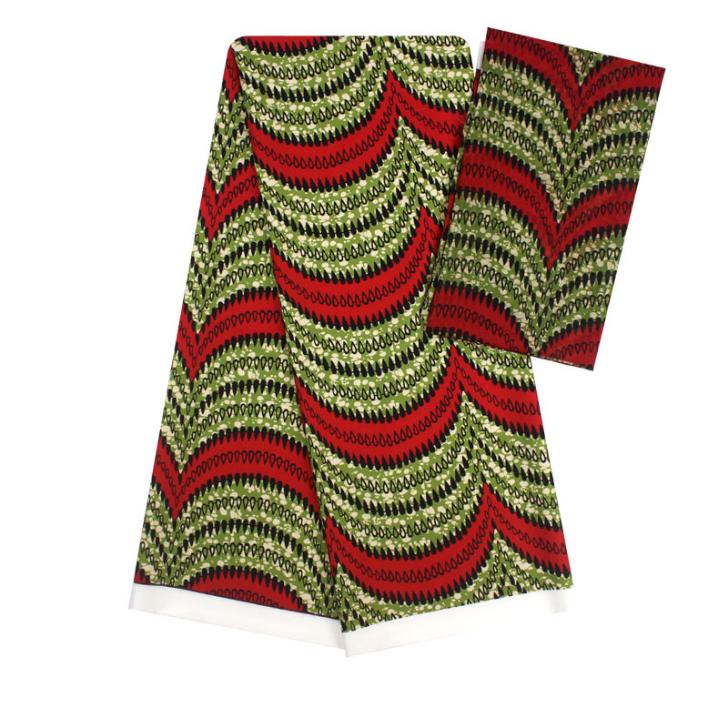 Tissu de soie imité de cire africaine ankara 2019 tissu de satin 4 yards audel/modell tissu de coton pour robe + 2 yards en mousseline YBG03251