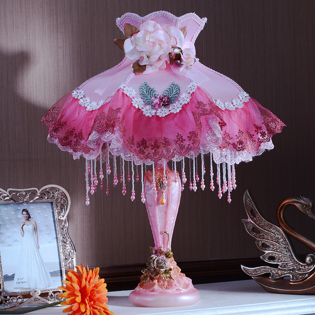 Colorful Princess Big Table Lamp Light Cute Big Gift Europe With
