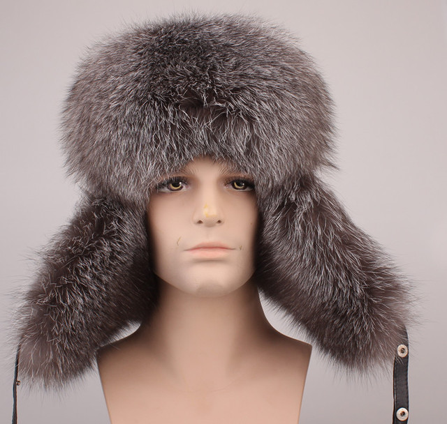 a7a4c8db447 fur hats for men bomber hat leifeng hat autumn winter natural raccoon fox  fur and