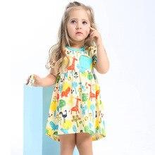 Girls Summer Moana Dresses Animal Print Robe Dress