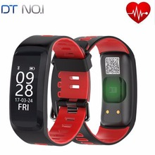 No. 1 F4 Pulseira Inteligente IP68 Bluetooth Freqüência Cardíaca Pressão Arterial de Oxigênio No Sangue Da Trilha Do Esporte Pulseira Inteligente Para Android iOS telefone