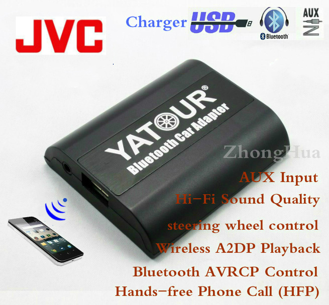 Yatour Bluetooth Hands-free Phone Call Car Adapter YT-BTA for JVC Head units Hi-Fi Sound Quality Wireless Playback Free shipping