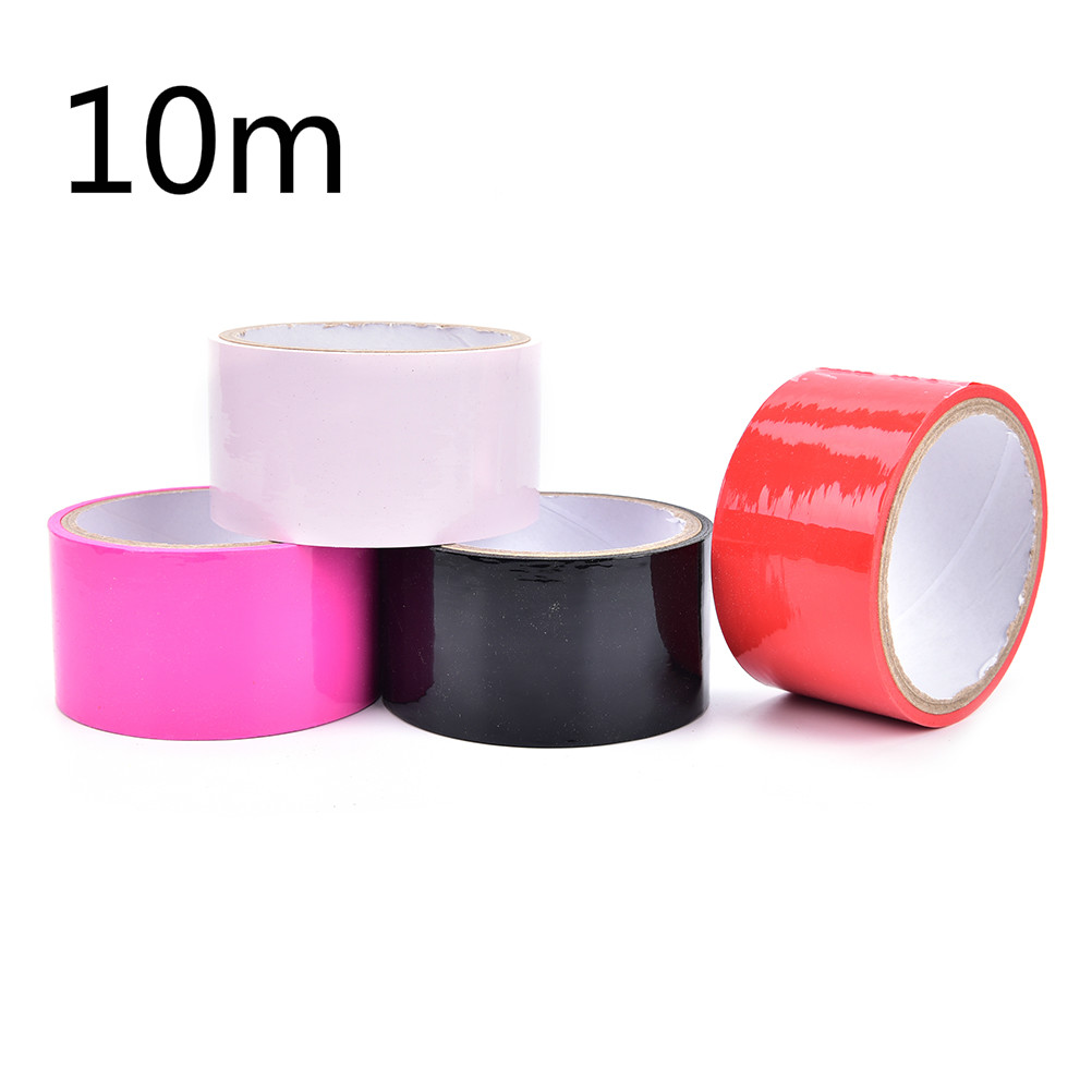 Buy 10m Glue PVC Duct Tape Elastic Sticky Bondage Binding Tape Kinky Tied Fetish Restraint Belt BDSM Tape
