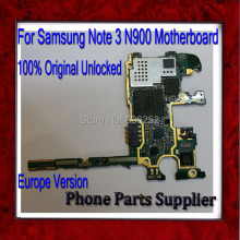100% Good Working,Original Unlocked Note 3 N900 Mainboard,Europe Version For Samsung Galaxy Note 3 N900 Motherboard with Chips