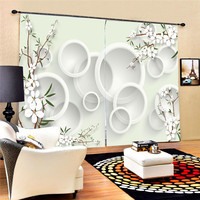 Curtains Modern 3D lifelike Blackout Curtain Flower Decoration Photo Curtain Printing Drapes Window for Living Room Oct25