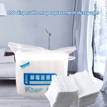 Newly 100pcs Disposable Electrostatic Dust Removal Mop Paper Home Kitchen Bathroom Cleaning Cloth XSD88