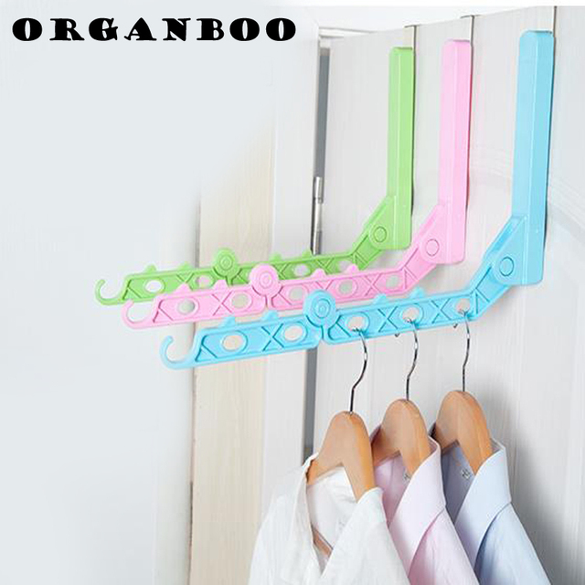 Organboo 1pc Anese Style Indoor Free Perforation Folding Clothes Drying Shelf Rods Single Simple Hanging