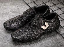 QYFCIOUFU Men's Genuine Leather Business Dress Suit Shoes Men Brand Crocodile Pattern Monk Strap Fashion Casual Driving Shoes