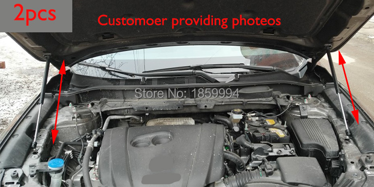 For 2017 2018 mazda cx-5 cx5 KF refit front hood Engine cover Hydraulic rod Strut spring shock Bar 2qty front hood shock damper strut spring lift support for chevrolet saturn vue