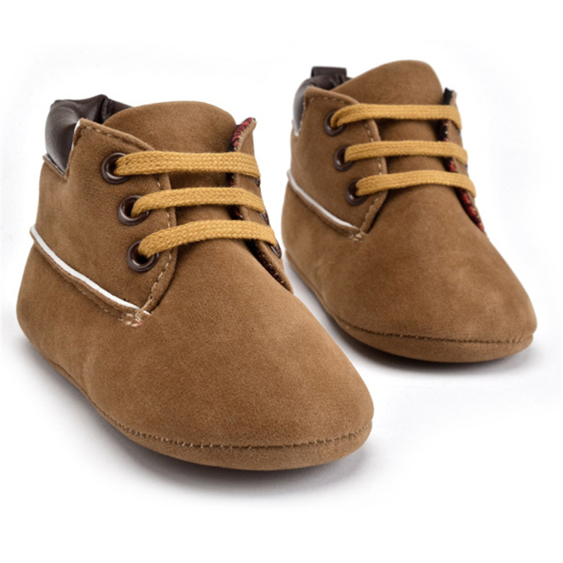 2019 New Spring / Autumn Infant Baby Boy Soft Sole PU Leather First Walkers Crib Shoes 0-18 Months Non-slip Footwear Crib Shoes
