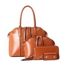 2016    Brand Solid Purses+Shoulder +Handbag 4 PCS/Set Luxury V Women Designer Handbags High Quality Sac a Main Composite Bag