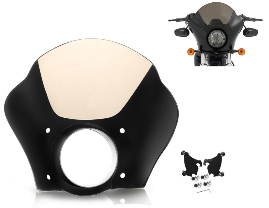 Gauntlet Fairing+Trigger Lock Mounting Kit for 2014-16 Harley Street XG 500 750 black gauntlet headlight fairing w trigger lock mount kit for harley xl 1200 883 freeshipping d15