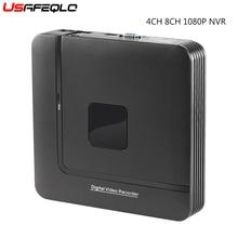 החדש מיני NVR מלא HD 4 ערוץ 8 ערוץ עצמאי אבטחת CCTV NVR 1080P 4CH 8CH ONVIF 2.0 עבור IP מצלמה מערכת 1080P